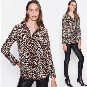 Equipment Femme button down long sleeve leopard